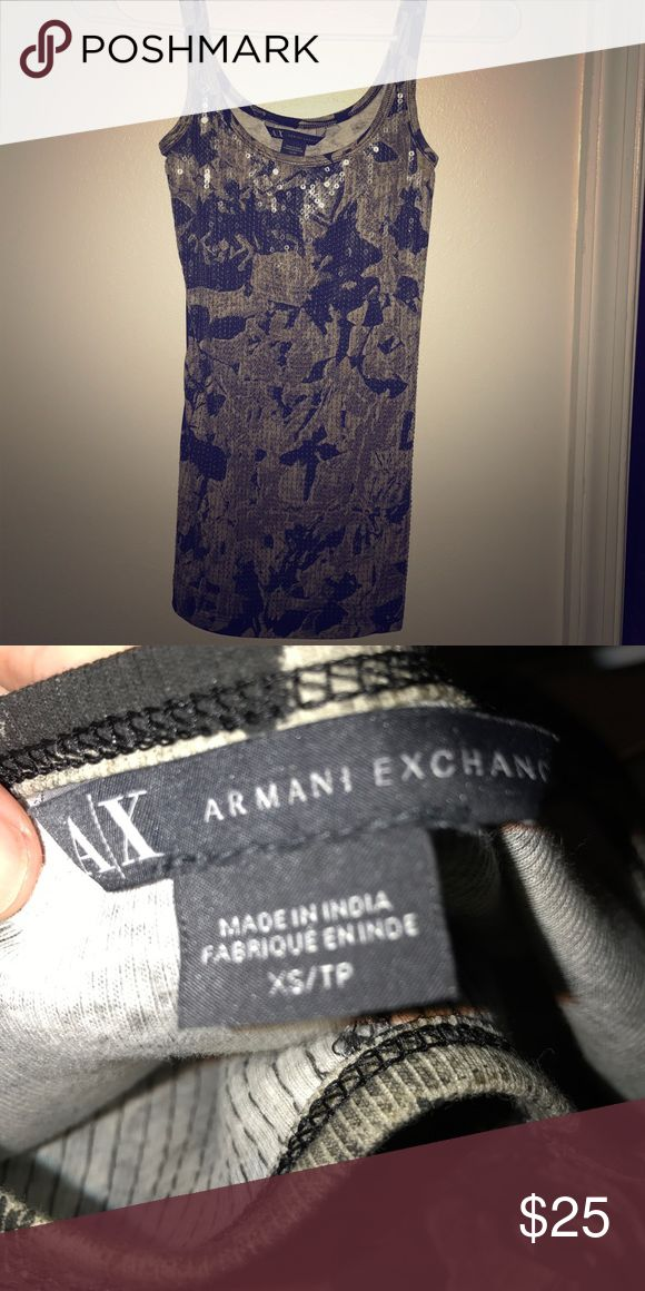 Tank top AX tank only worn once, awesome for casual days or a night out with jeans and heels! Suttle  sequence A/X Armani Exchange Tops Tank Tops