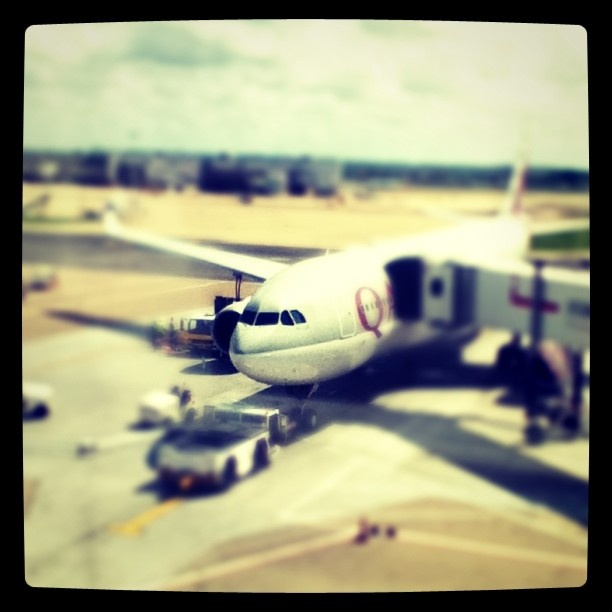 My flight to #Dubai on #Qatar airlines from #gatwick airport