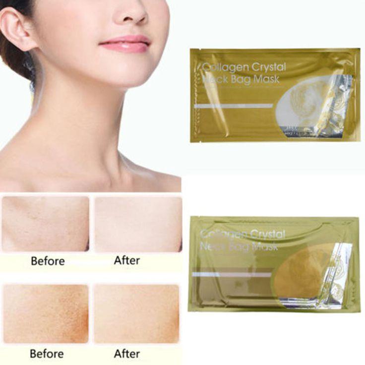 Nuovo Sacchetto di Cristallo del Collageno del Collo Maschera Sbiancante Anti-Invecchiamento Rughe Umidità Maschera X1