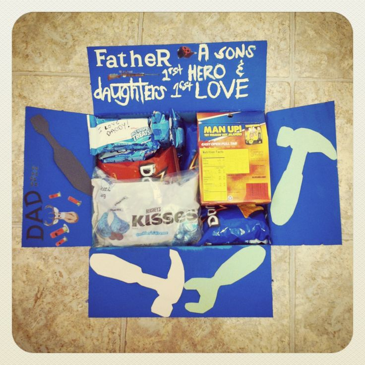 Father's Day deployment care package. Military Family