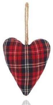 Tartan Heart Christmas Tree Decoration traditional holiday decorations