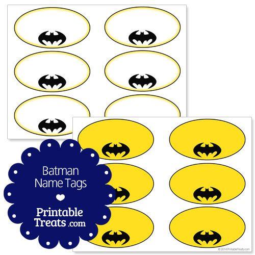 Free Batman Printable Name Tags from PrintableTreats.com