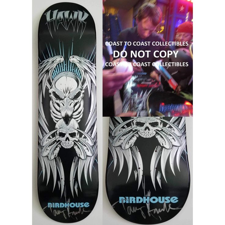 Tony Hawk, Signed, Autographed, Birdhouse Skateboard Deck, A COA with the Exact Proof Photo of Tony Signing Will Be Included,