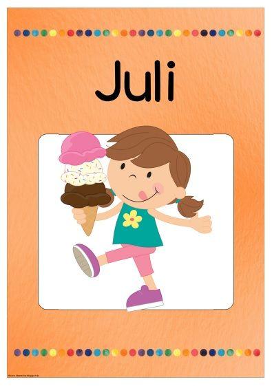 """Neues Monatsplakat   Die beiden Monatsplakate (Deutsch/Englisch) für den Juli sind fertig. Viel Freude damit!      Plakat """"July"""": Hier zum..."""