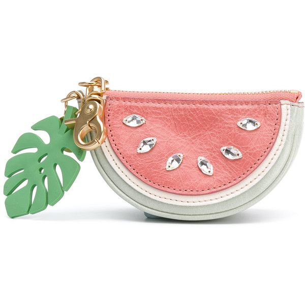 See By Chloé watermelon coin purse (1.941.875 IDR) ❤ liked on Polyvore featuring bags, wallets, see by chloe wallet, coin pouch wallet, hardware bag, coin purse wallets and coin pouch
