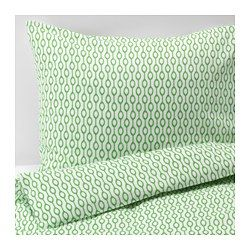 IKEA - RÖDVED, Duvet cover and pillowcase(s), Full/Queen (Double/Queen), , The polyester/cotton blend is easy to care for since the fabric is less liable to shrink and crease.