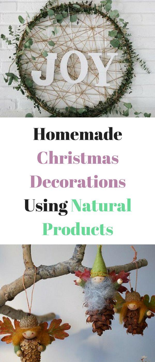 Homemade Christmas decorations using natural products by Emma at Mums Savvy Savings. #HomemadChristmas #ChristmasDecorations #NaturalProducts