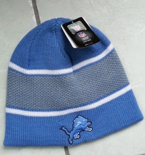 NFL '47 Forty Seven Brand Detroit Lions Team Headwear One Size Lit Blue Beanie | eBay  $10.99 + 2.95 shipping