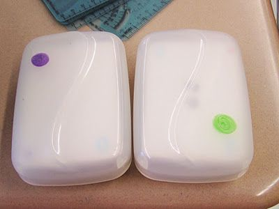 Color coded dollar store soap cases for flash card organization (and other math organization tips)