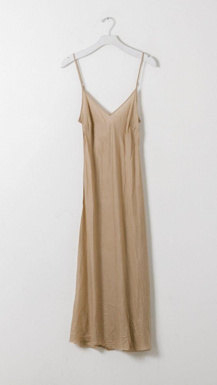 Organic by John Patrick Long Slip Dress in Nude | The Dreslyn