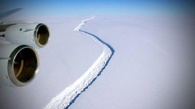 No se preocupe por el enorme iceberg antártico, sino por los glaciares que hay detrás de él