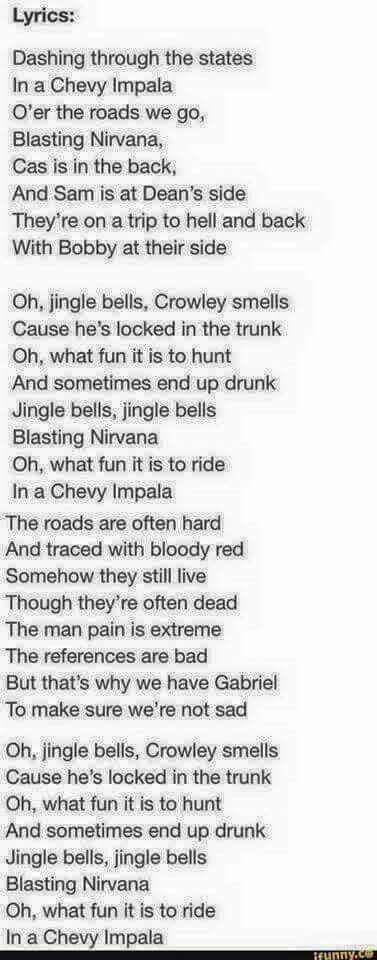 """Jingle Bells"" Supernatural style"