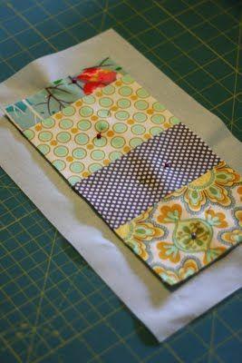 Super simple. Mug rug with cheater binding. knittybittiesews dot com More