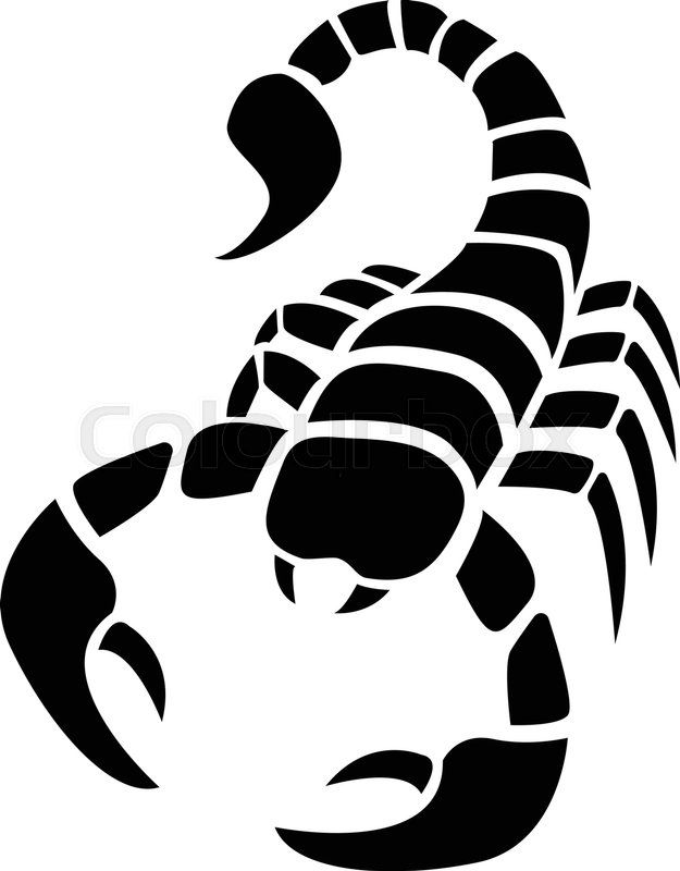 Stock Vector Of Scorpion Icon In Simple Tattoo Stylevector Design