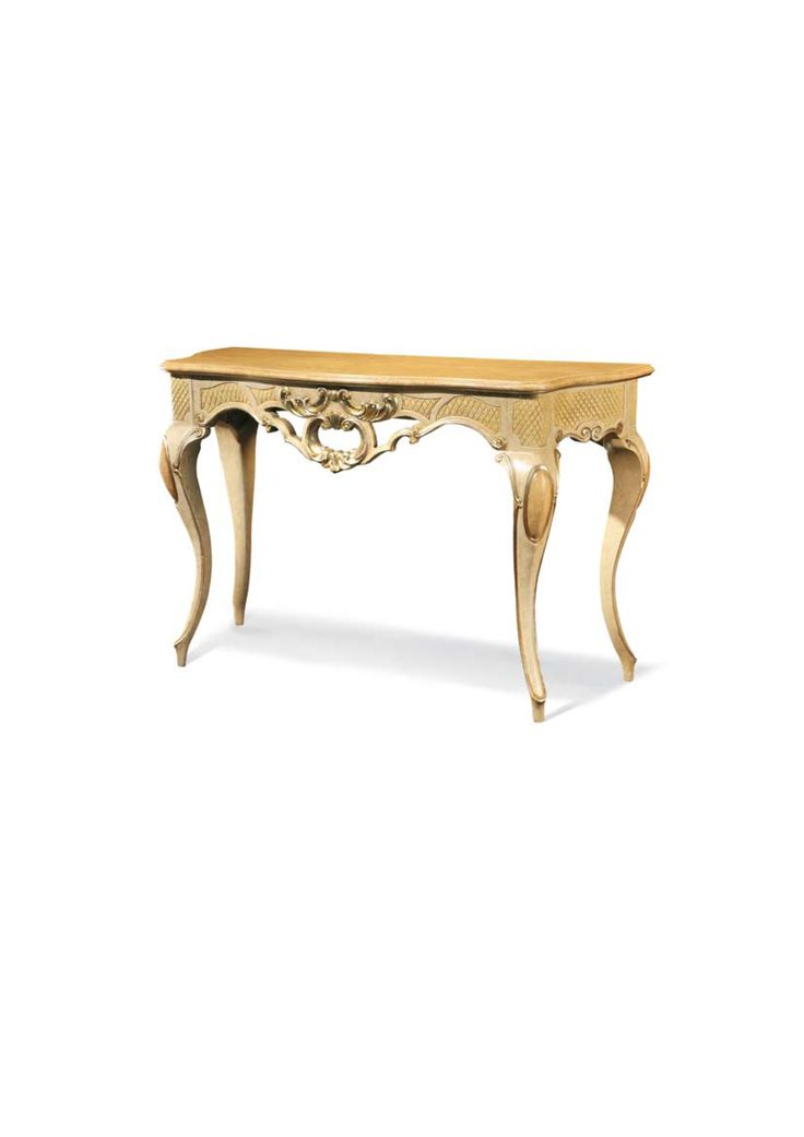 Consola din lemn masiv aurit Console table Meggiorini Santino