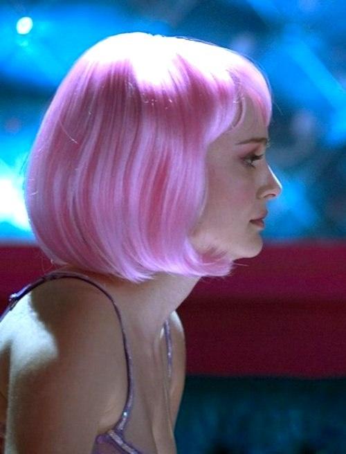 natalie portman closer in pink hair