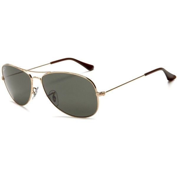 Ray-Ban RB3362P New Classic Aviator Polarized Sunglasses ❤ liked on Polyvore featuring accessories, eyewear, sunglasses, ray ban sunglasses, aviator sunglasses, ray ban aviator, lens glasses and aviator style sunglasses