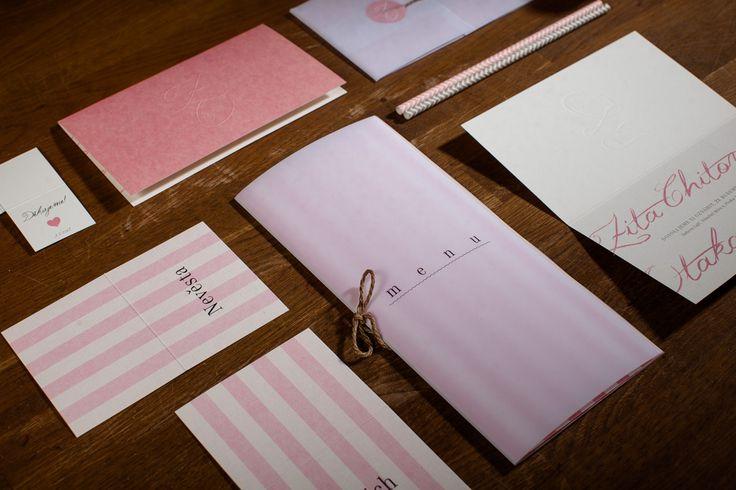 Svatební oznámení a menu