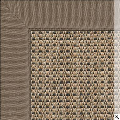 Sisal Panama New Champagne Rug Border Cotton Chenille Dun