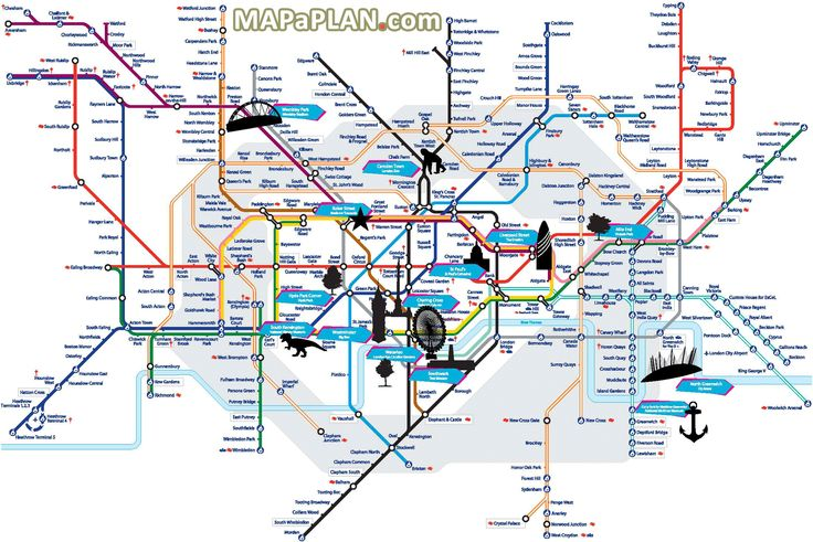London top tourist attractions map Tube with points of interest – Iran Tourist Attractions Map