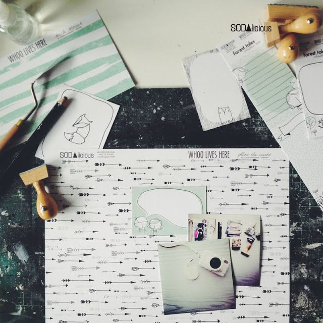 "SODAlicious ►NEW collection of papers ""WHOO LIVES HERE"" soon will be available in stores! ♥"