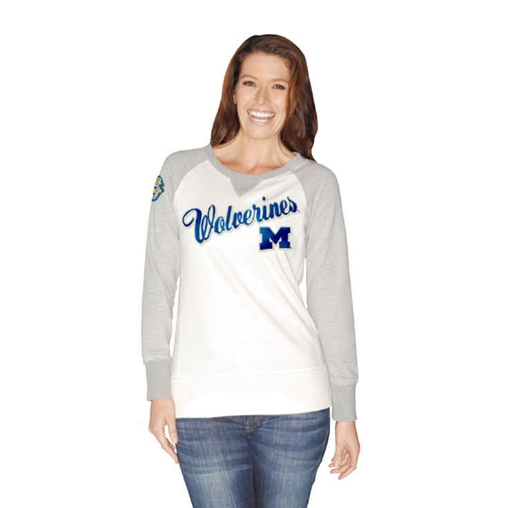 Michigan Wolverines Women's Double Team Boat Neck Sweatshirt - $35.14