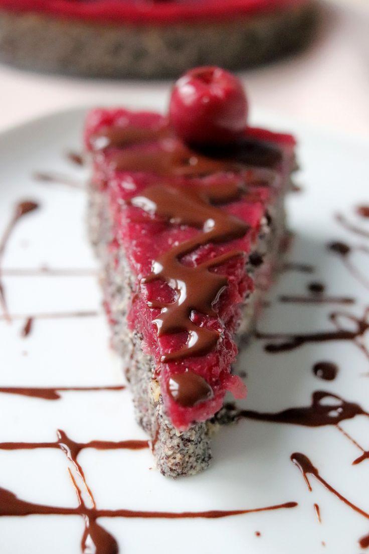 Višňovo-maková torta bez múky