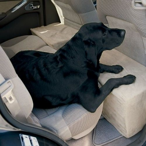 Make your backseat safer and more comfortable for your dog with the firmness and security of microfiber-covered foam backseat extender.