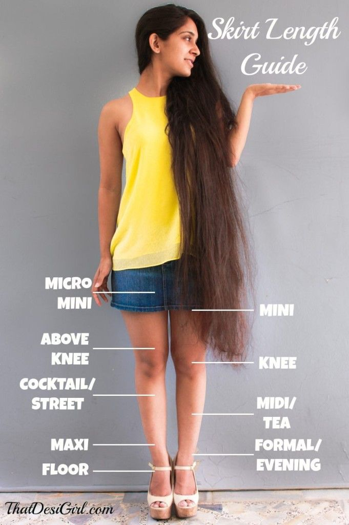 A Definitive Skirt Length Guide – Micro Mini to Floor ...