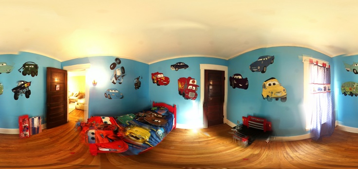I finally finished matt 39 s disney car themed bedroom hand for Disney cars bedroom ideas