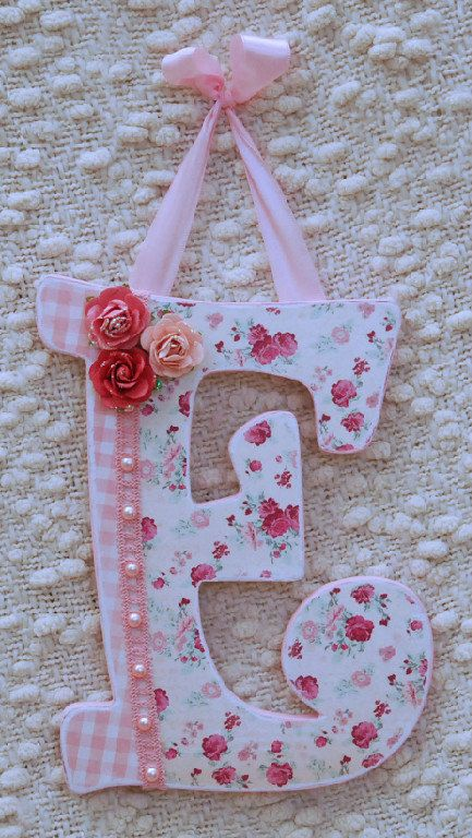 Custom baby name wall letters art nursery decor by TheRuggedPearl, $14.00