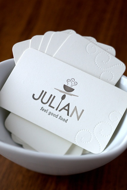 Julian business card. Simplistic perfection.