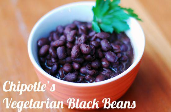 Chipotle Vegetarian Black Beans Ingredients  2 cans black beans, 1 drained and 1 undrained  1 tsp. chili powder  1/2 tsp. cumin  1/8 tsp. allspice  1 garlic clove, crushed  1/2 tsp. salt  1/4 tsp. sugar