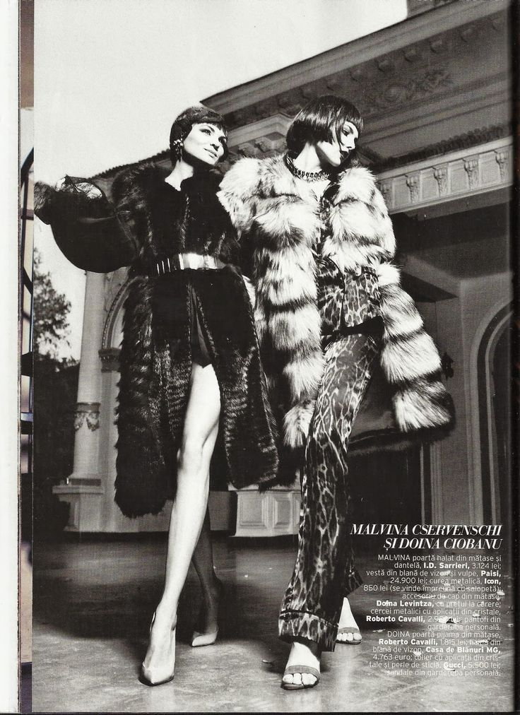 The Modern Duchess : Elle Romania December 2013 paisi furs