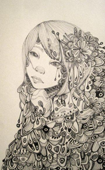 Ink.: Pretty Illustration, Crafts Art Zentangle, Rose Wong, Zentangle Art, Rosewong, Zentangle Zendöödl, Zentangle Doodles, Dr. W D0Odl Zentangle, Zentangle Pattern