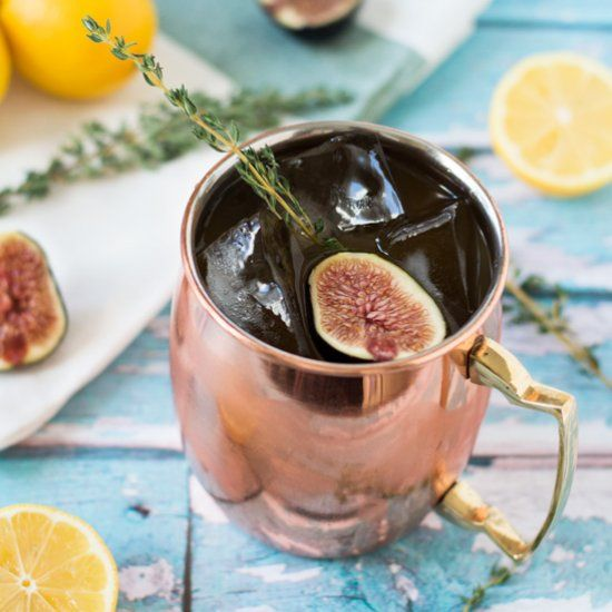 Made with fig vodka, limoncello, and ginger beer, this refreshing drink is a fun twist on the classic Moscow mule.