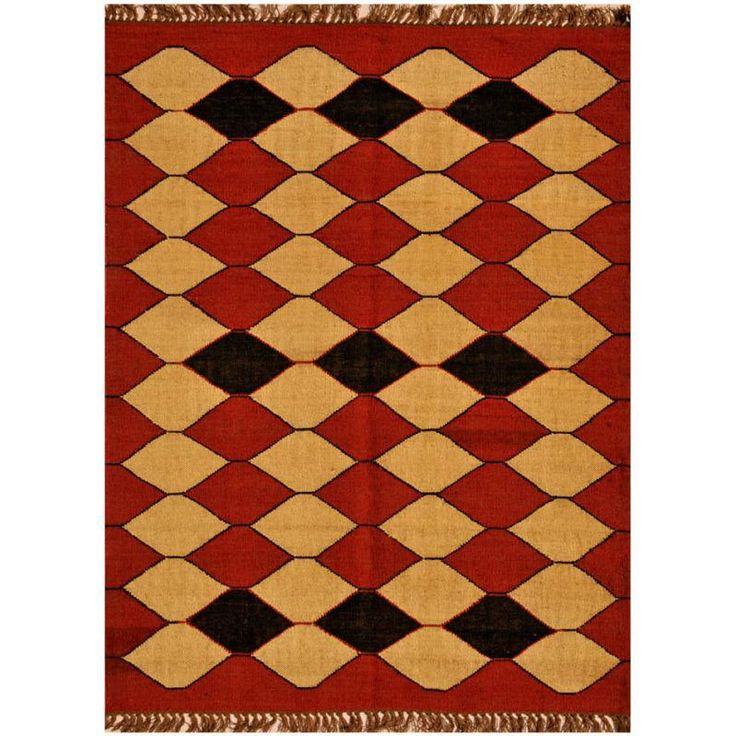 handwoven of rugged wool and jute this rug provides both resistance to wear