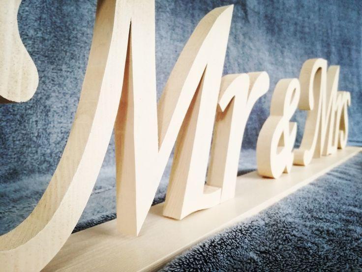 Mr&Mrs#napis#literki#drewniane#wood#pan#pani