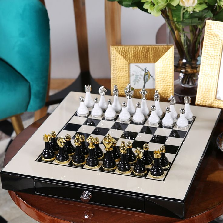 ==> [Free Shipping] Buy Best Chess Set Top Quality Mental-Wooden Chess Chessman Nice Gift for Friends Game Collection Furniture Decoration Arts and Crafts Online with LOWEST Price | 32794218367
