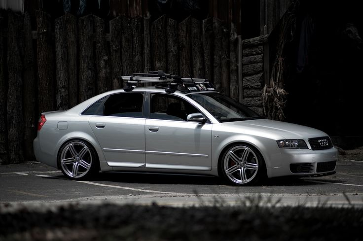 2005 Audi S4. H&R/Koni suspension and Thule rack.