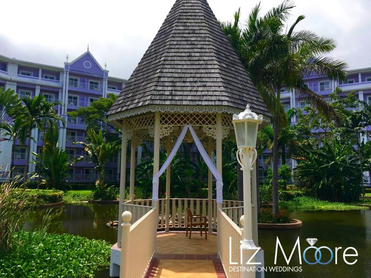 Jamaica Wedding Gazebos #jamaica #weddinggazebos #weddingideas #weddingceremony #riupalace