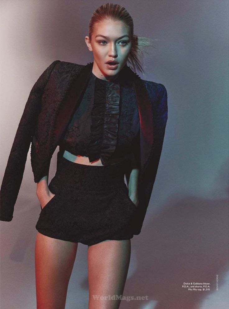 """Gigi"" Gigi Hadid for Vogue Australia June 2015"