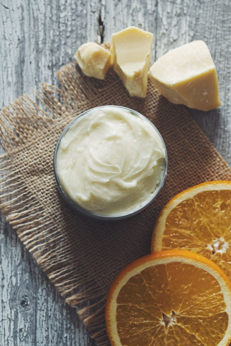 white chocolate orange whipped body butter #vegan #DIY | RECIPE on hotforfoodblog.com