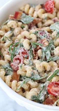 BLT Pasta Salad Recipe - a unique and delicious twist on classic pasta salad.