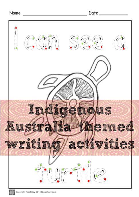 Early writing skills with an Idigenous Australia theme. www.teachezy.com www.earlychildhoodteachezy.com