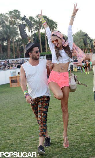 Alessandra Ambrosio jumped for joy | Coachella 2013