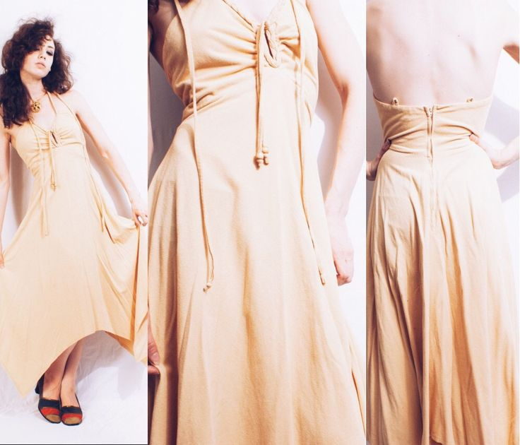 Vtg 70s Faux Suede Tan Boho Braided Halter Dress by MoveBabyVintage on Etsy https://www.etsy.com/listing/245954423/vtg-70s-faux-suede-tan-boho-braided