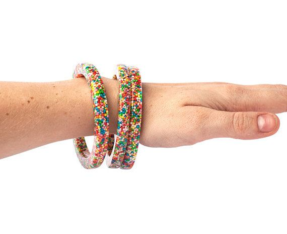 Candy 100's & 1000's Sprinkles Stacker Bangle