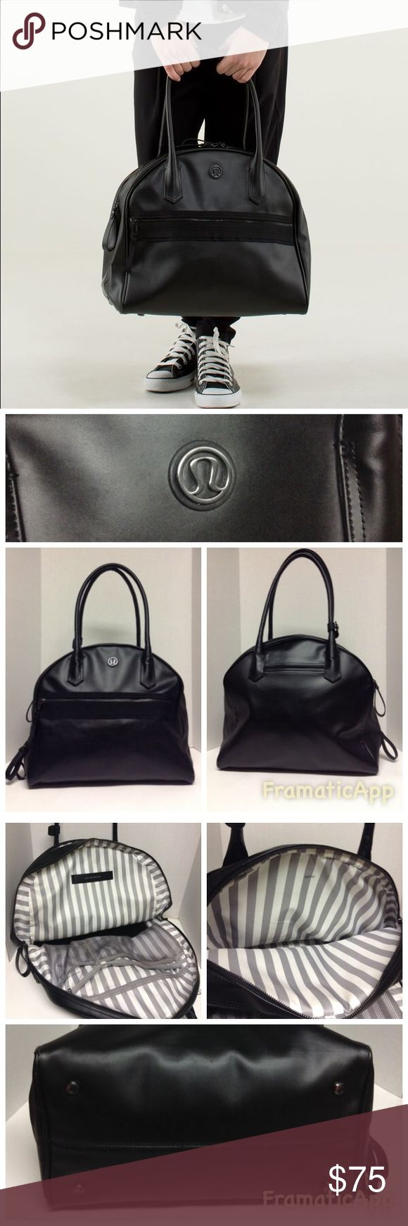 Lululemon Sweat Once A Day Bag Lululemon Sweat once a Day bag. Pre-owned with light wear 4 bottom corners scraps ,a little to the lining by zipper see photos reflected in price  . Interior pretty clean with light wear.Has Pockets for laptop, etc. Thanks for looking😊 lululemon athletica Bags Travel Bags