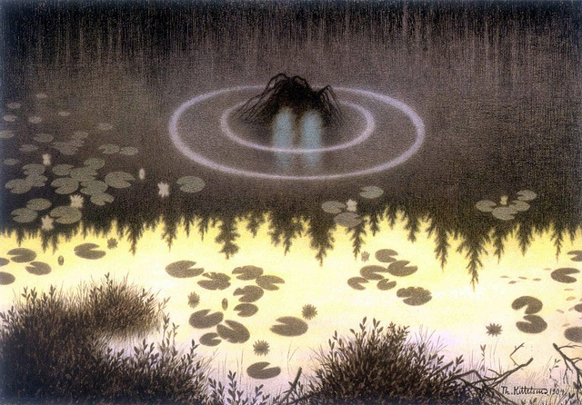 Fairytales . Theodor Kittelsen - Water Spirit, 1904, via Flickr.